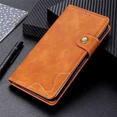 Custodia Portafoglio In Pelle Cover con Supporto per Oppo A32 Arancione