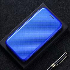 Custodia Portafoglio In Pelle Cover con Supporto per Oppo F17 Blu