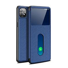 Custodia Portafoglio In Pelle Cover con Supporto per Oppo Reno4 SE 5G Blu