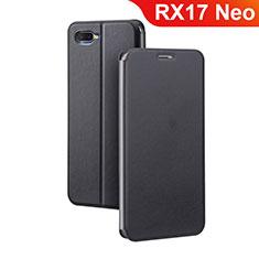 Custodia Portafoglio In Pelle Cover con Supporto per Oppo RX17 Neo Nero