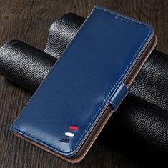 Custodia Portafoglio In Pelle Cover con Supporto per Realme 5i Blu