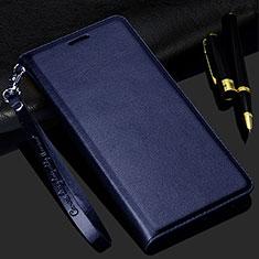 Custodia Portafoglio In Pelle Cover con Supporto per Realme C3 Blu