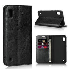 Custodia Portafoglio In Pelle Cover con Supporto per Samsung Galaxy A10 Nero