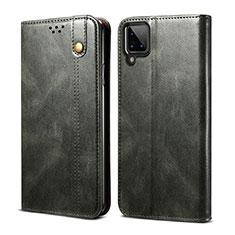 Custodia Portafoglio In Pelle Cover con Supporto per Samsung Galaxy A12 Verde Notte