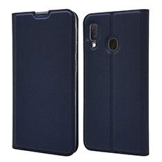 Custodia Portafoglio In Pelle Cover con Supporto per Samsung Galaxy A20e Blu