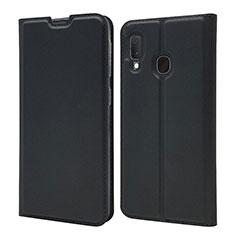 Custodia Portafoglio In Pelle Cover con Supporto per Samsung Galaxy A20e Nero