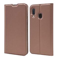 Custodia Portafoglio In Pelle Cover con Supporto per Samsung Galaxy A20e Oro Rosa