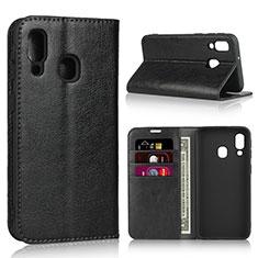 Custodia Portafoglio In Pelle Cover con Supporto per Samsung Galaxy A40 Nero