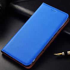 Custodia Portafoglio In Pelle Cover con Supporto per Samsung Galaxy A6s Blu