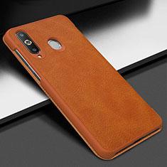 Custodia Portafoglio In Pelle Cover con Supporto per Samsung Galaxy A8s SM-G8870 Marrone