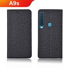 Custodia Portafoglio In Pelle Cover con Supporto per Samsung Galaxy A9s Nero