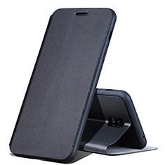 Custodia Portafoglio In Pelle Cover con Supporto per Samsung Galaxy C8 C710F Nero