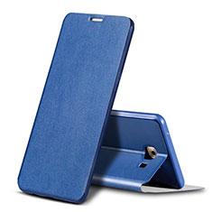 Custodia Portafoglio In Pelle Cover con Supporto per Samsung Galaxy C9 Pro C9000 Blu