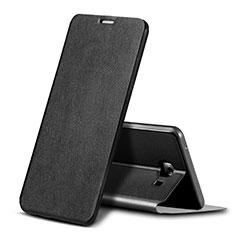 Custodia Portafoglio In Pelle Cover con Supporto per Samsung Galaxy C9 Pro C9000 Nero