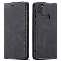 Custodia Portafoglio In Pelle Cover con Supporto per Samsung Galaxy M21 Nero
