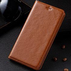 Custodia Portafoglio In Pelle Cover con Supporto per Samsung Galaxy M60s Arancione