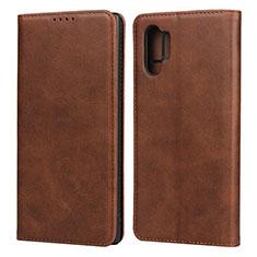 Custodia Portafoglio In Pelle Cover con Supporto per Samsung Galaxy Note 10 Plus Marrone