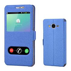 Custodia Portafoglio In Pelle Cover con Supporto per Samsung Galaxy On7 Pro Blu