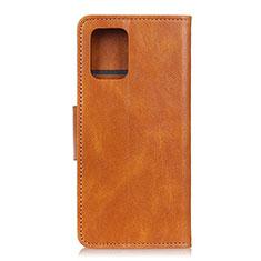 Custodia Portafoglio In Pelle Cover con Supporto per Samsung Galaxy S10 Lite Arancione