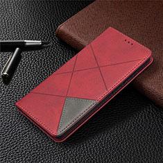 Custodia Portafoglio In Pelle Cover con Supporto per Samsung Galaxy S20 FE 5G Rosso