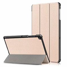 Custodia Portafoglio In Pelle Cover con Supporto per Samsung Galaxy Tab S5e 4G 10.5 SM-T725 Oro