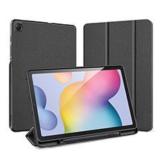 Custodia Portafoglio In Pelle Cover con Supporto per Samsung Galaxy Tab S6 Lite 4G 10.4 SM-P615 Nero