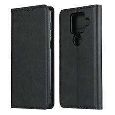 Custodia Portafoglio In Pelle Cover con Supporto per Sharp AQUOS Sense4 Plus Nero