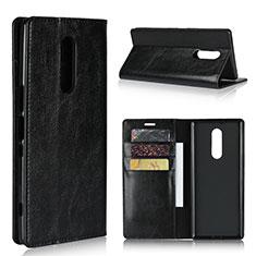 Custodia Portafoglio In Pelle Cover con Supporto per Sony Xperia 1 Nero