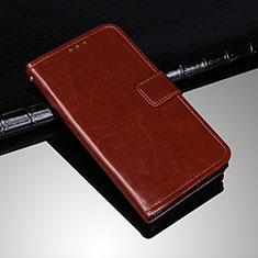 Custodia Portafoglio In Pelle Cover con Supporto per Sony Xperia 10 Plus Marrone