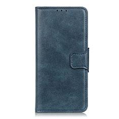 Custodia Portafoglio In Pelle Cover con Supporto per Sony Xperia 5 Blu