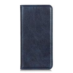 Custodia Portafoglio In Pelle Cover con Supporto per Sony Xperia 5 II Blu