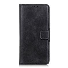 Custodia Portafoglio In Pelle Cover con Supporto per Sony Xperia 5 Nero
