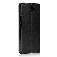 Custodia Portafoglio In Pelle Cover con Supporto per Sony Xperia 8 Lite Nero