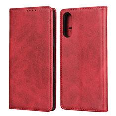 Custodia Portafoglio In Pelle Cover con Supporto per Sony Xperia L4 Rosso