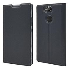 Custodia Portafoglio In Pelle Cover con Supporto per Sony Xperia XA2 Plus Nero