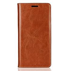 Custodia Portafoglio In Pelle Cover con Supporto per Sony Xperia XZ2 Arancione