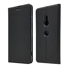 Custodia Portafoglio In Pelle Cover con Supporto per Sony Xperia XZ3 Nero