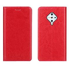 Custodia Portafoglio In Pelle Cover con Supporto per Vivo X50 Lite Rosso