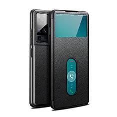 Custodia Portafoglio In Pelle Cover con Supporto per Vivo X50 Pro 5G Nero