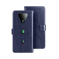 Custodia Portafoglio In Pelle Cover con Supporto per Xiaomi Black Shark 3 Pro Blu