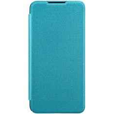 Custodia Portafoglio In Pelle Cover con Supporto per Xiaomi CC9e Cielo Blu