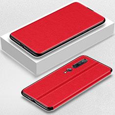 Custodia Portafoglio In Pelle Cover con Supporto per Xiaomi Mi 10 Pro Rosso