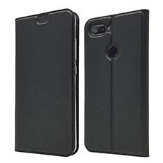 Custodia Portafoglio In Pelle Cover con Supporto per Xiaomi Mi 8 Lite Nero