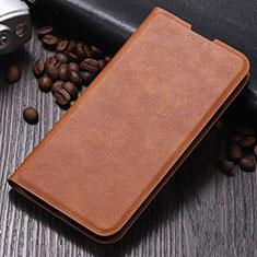 Custodia Portafoglio In Pelle Cover con Supporto per Xiaomi Mi Note 10 Marrone