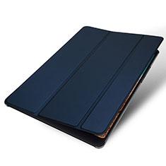 Custodia Portafoglio In Pelle Cover con Supporto per Xiaomi Mi Pad 4 Blu