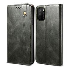 Custodia Portafoglio In Pelle Cover con Supporto per Xiaomi Poco M3 Verde Notte