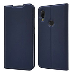 Custodia Portafoglio In Pelle Cover con Supporto per Xiaomi Redmi 7 Blu