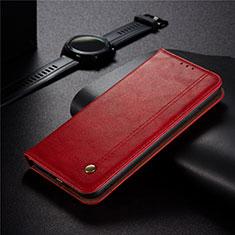 Custodia Portafoglio In Pelle Cover con Supporto per Xiaomi Redmi 9 India Rosso