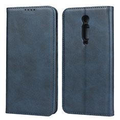 Custodia Portafoglio In Pelle Cover con Supporto per Xiaomi Redmi K20 Blu