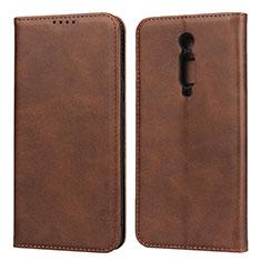 Custodia Portafoglio In Pelle Cover con Supporto per Xiaomi Redmi K20 Marrone